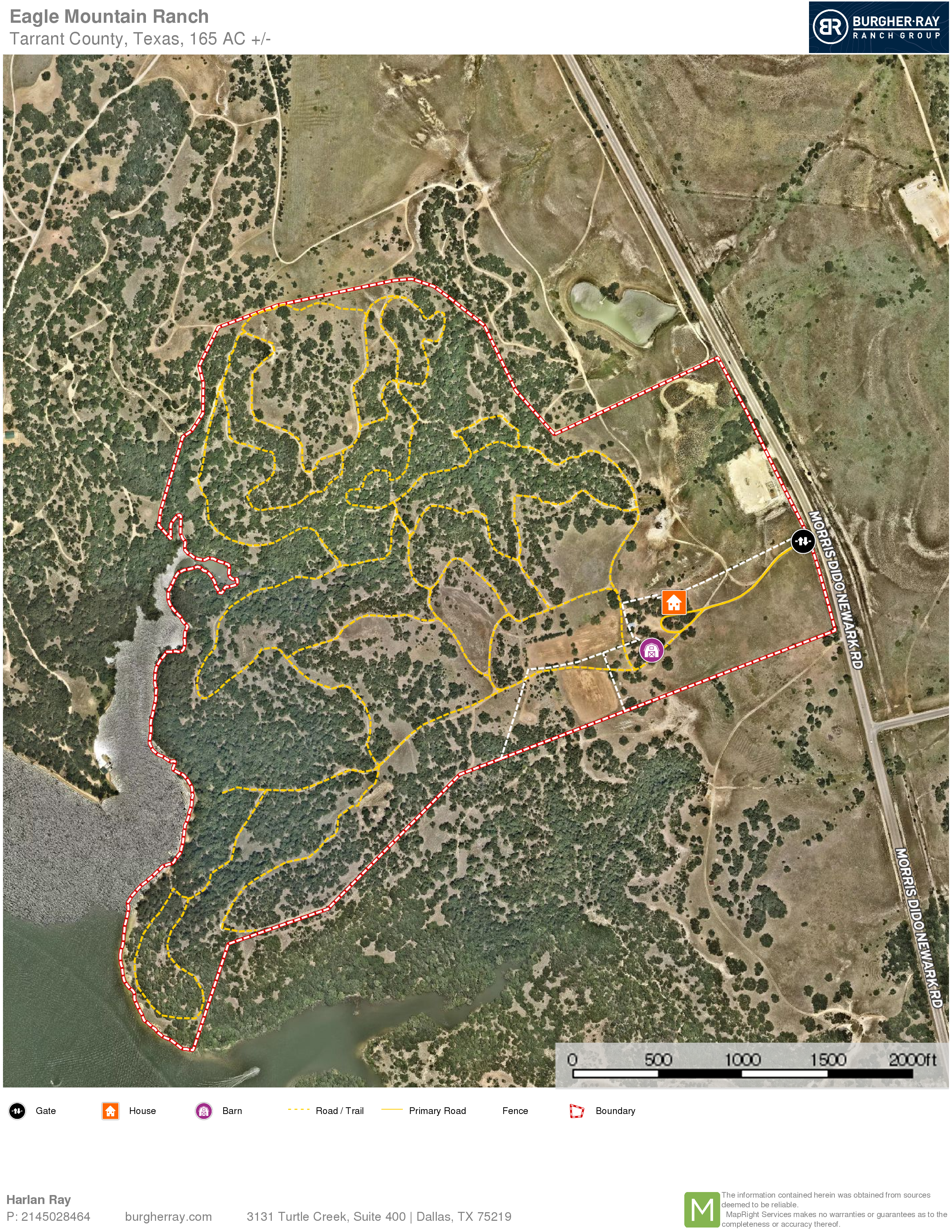 arial map